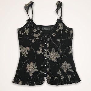 🆕 GUESS Silk Rhinestone Button Down Camisole